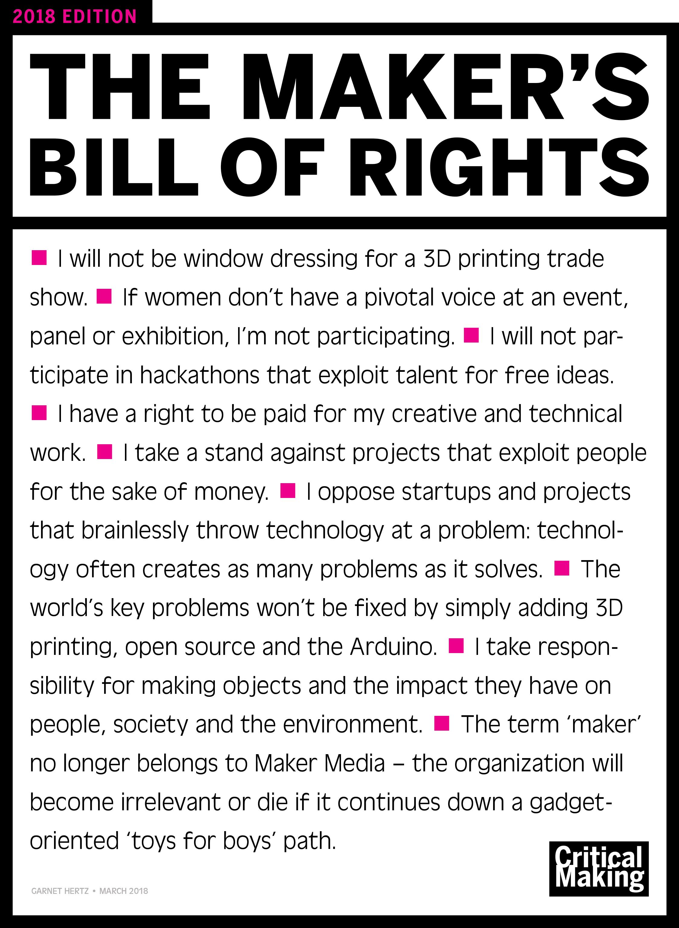 maker manifesto